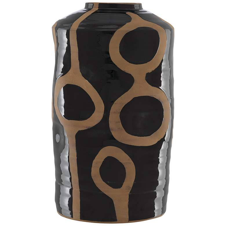 "Currey and Company Riku Black 20 1/4"" High Terracotta Vase"