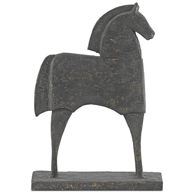 "Balius Gold Flecked Iron 16 1/2"" High Horse"