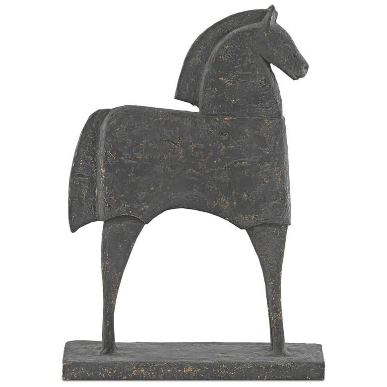 "Balius Gold Flecked Iron 16 1/2"" High Horse Sculpture"