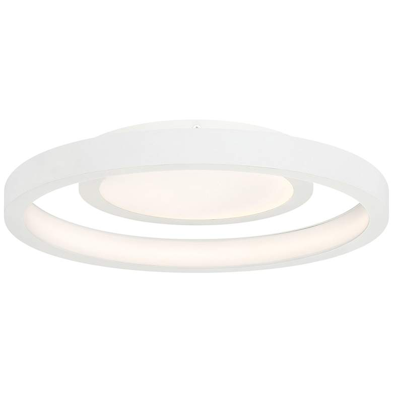 "George Kovacs Knock Out 14"" Wide White LED Ceiling Light"