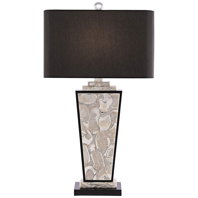 Currey and Company Patrova Pearlized Oyster Table Lamp