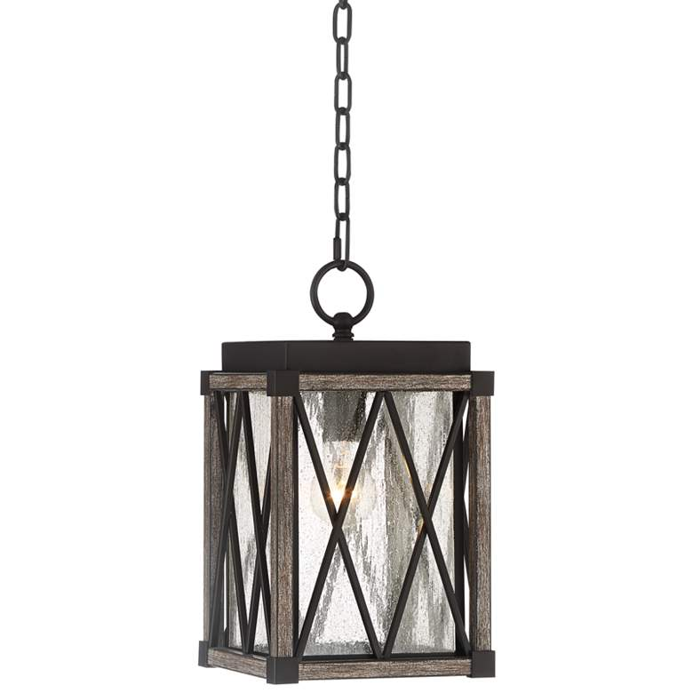 "Possini Euro Brawley 14 1/2""H Bronze Outdoor Hanging Light"