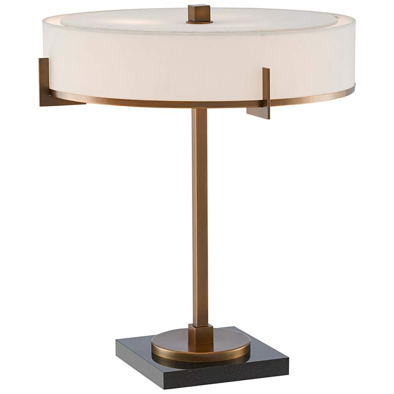 Currey and Company Jacobi Antique Brass Accent Table Lamp