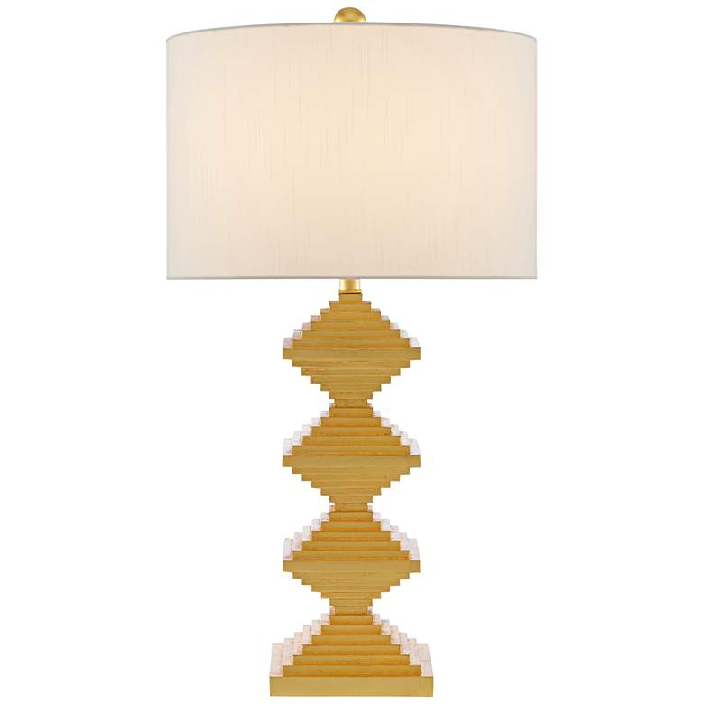 Currey and Company Pelor Contemporary Gold Leaf Table Lamp