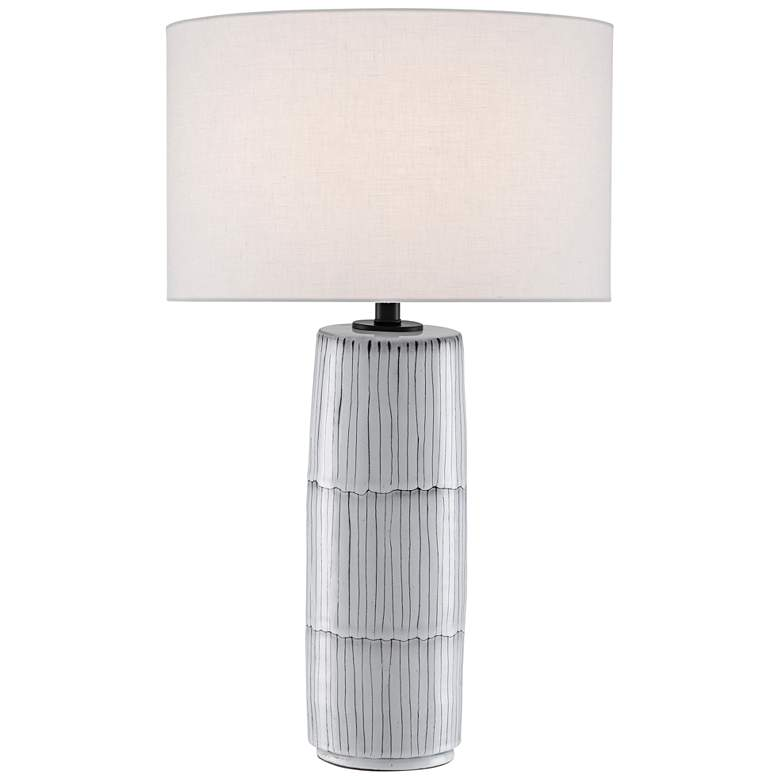 Currey and Company Cygnas White and Black Table Lamp