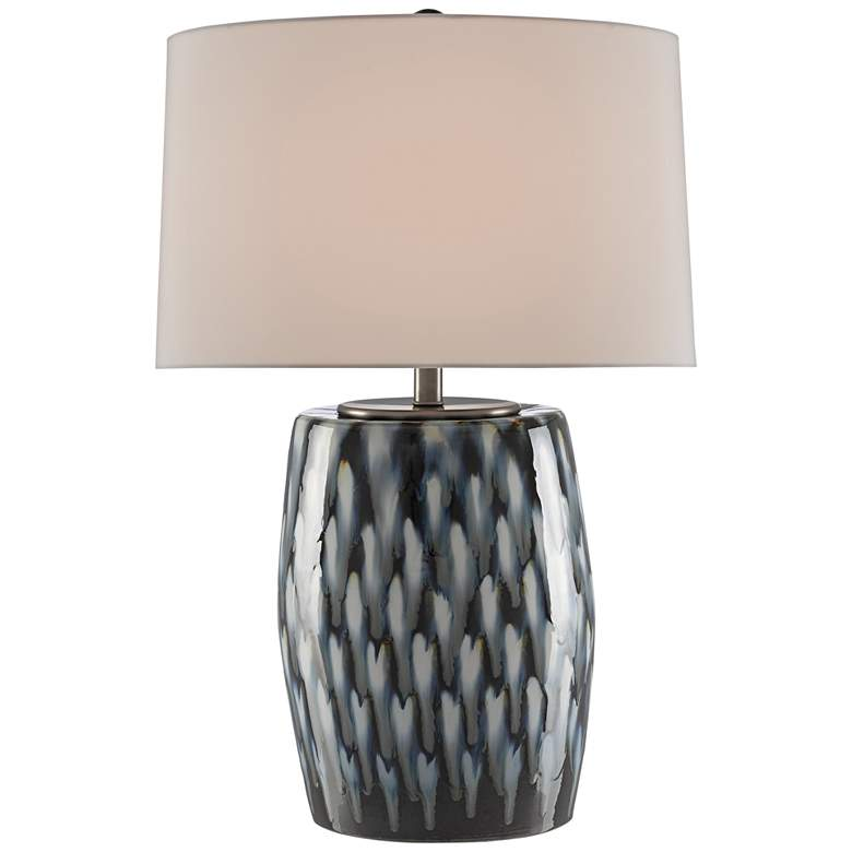 Currey and Company Milner Blue Indigo and Cloud Table Lamp