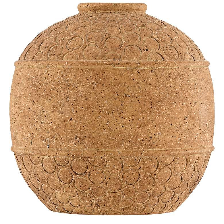 """Currey and Company Lubao 9"""" High Speckled Terracotta Vase"""