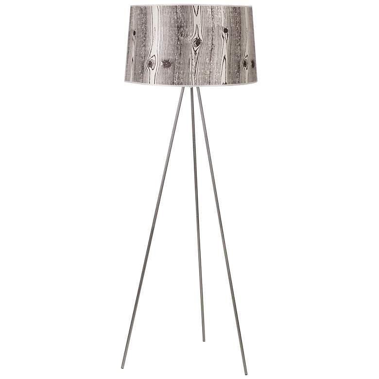 Lights Up! Weegee Faux Bois Light Tripod Metal Floor Lamp