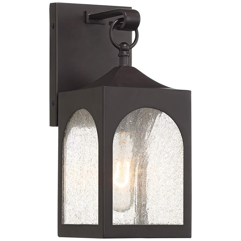 "Possini Euro Tyne 12""H Bronze Lantern Outdoor Wall Light"