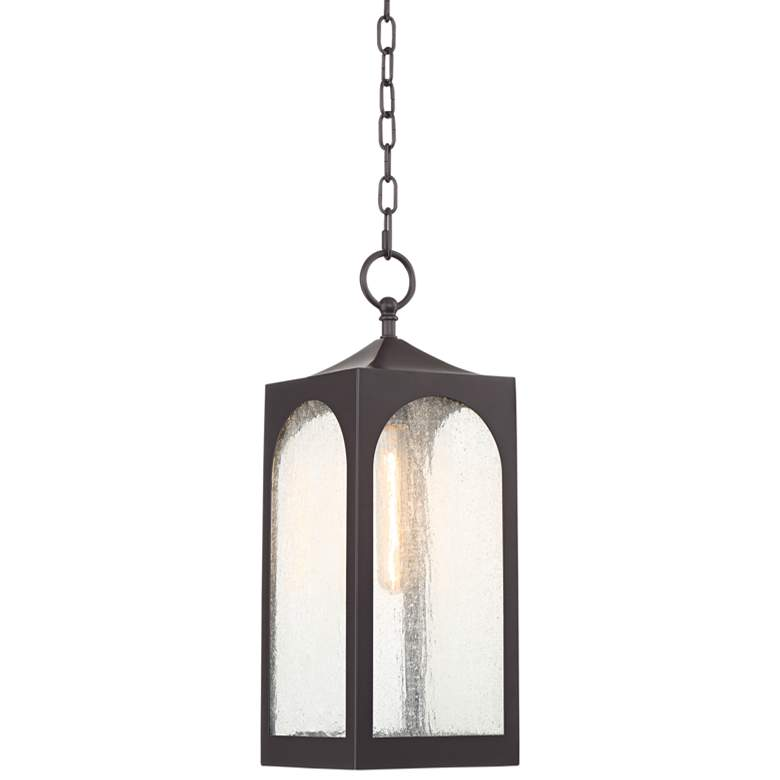 "Possini Euro Tyne 19""H Bronze Lantern Outdoor Hanging Light"