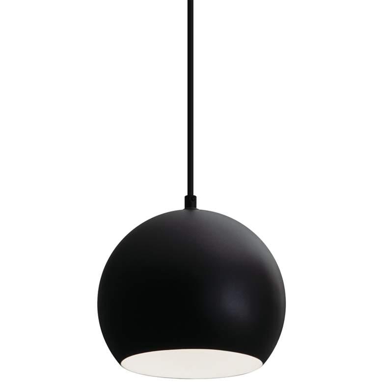 "Roxy 6 1/2"" Wide Black Metal Dome Mini Pendant Light"