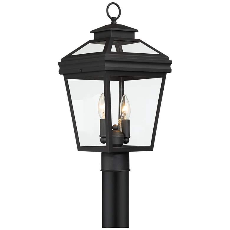 "Stratton Street 18 1/2"" High Black Outdoor Post Light"