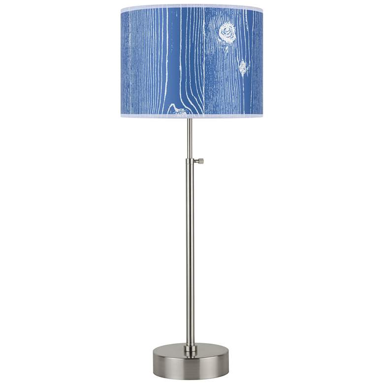 Lights Up! CanCan Faux Bois Marine Adjustable Table Lamp