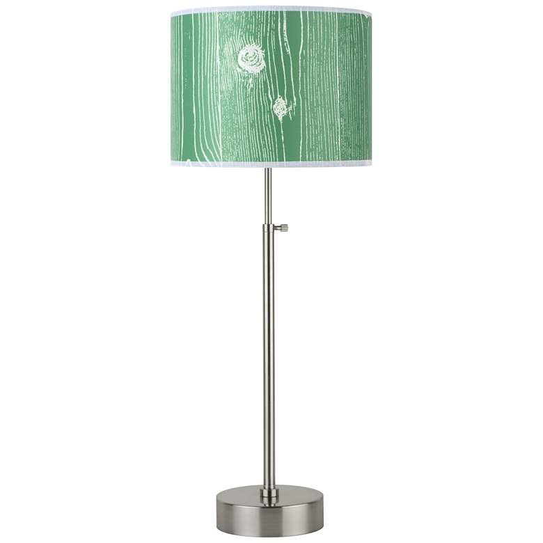 Lights Up! CanCan Faux Bois Kelly Adjustable Table Lamp
