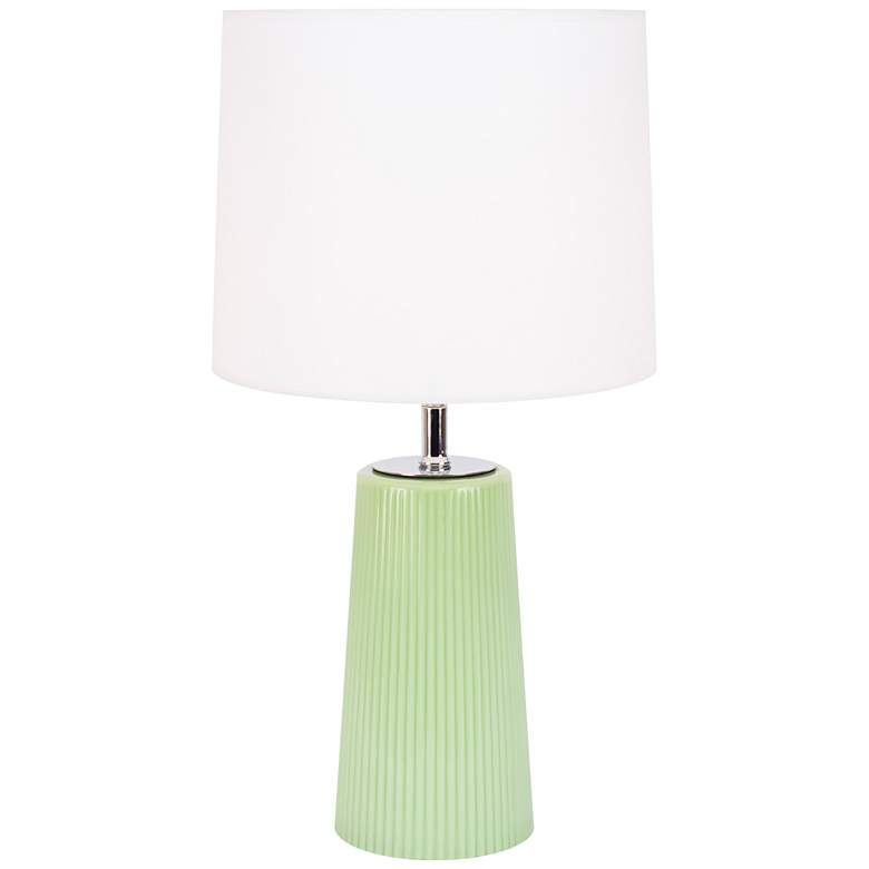 Martha Green Apple Glass Table Lamp with Trilam