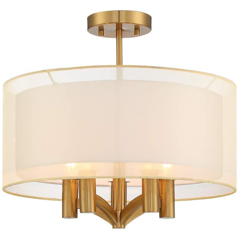 "Caliari 18"" Wide Warm Brass 5-Light Ceiling Light"