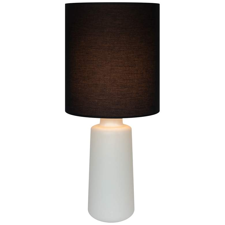 Circa Bisque Ceramic Table Lamp with Black Linen