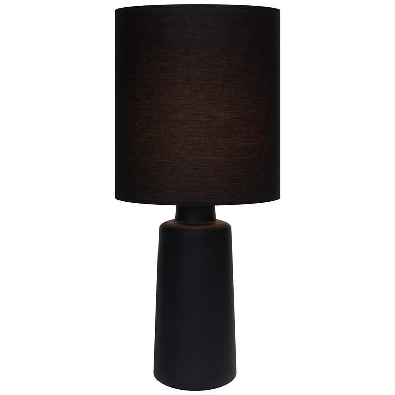 Circa Cast Iron Ceramic Table Lamp with Black
