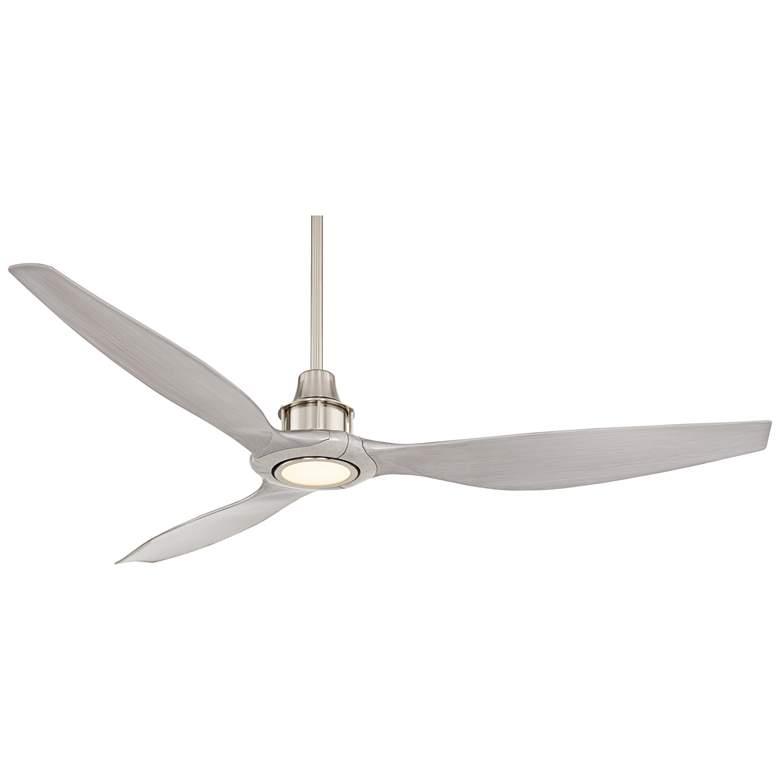 "58"" Interceptor Brushed Nickel Damp LED Ceiling Fan"