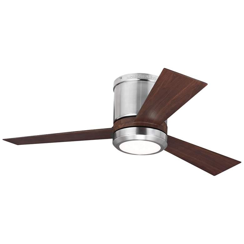 """42"""" Clarity II Brushed Steel LED Hugger Ceiling Fan"""