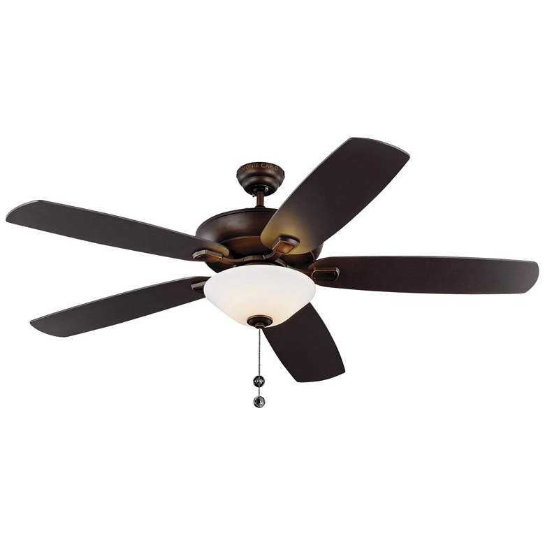 "60"" Colony Super Max Plus Roman Bronze LED Damp Ceiling Fan"