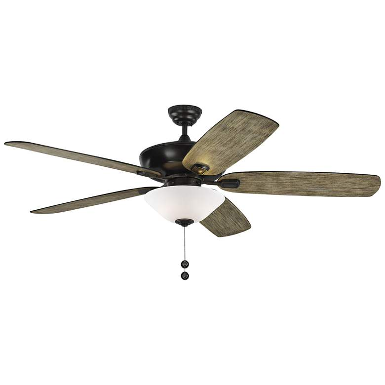 "60"" Colony Super Max Plus Aged Pewter LED Damp Ceiling Fan"