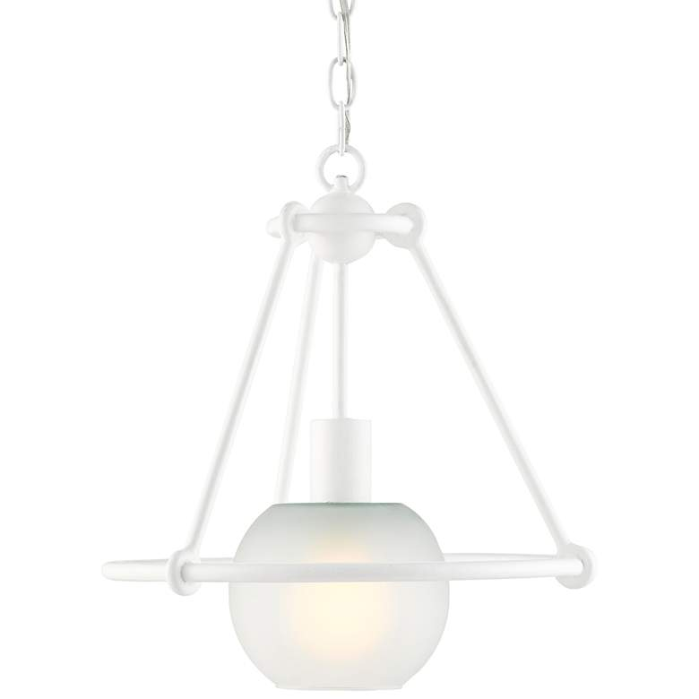 "Halliday 14 1/2"" Wide Gesso White Pendant Light"