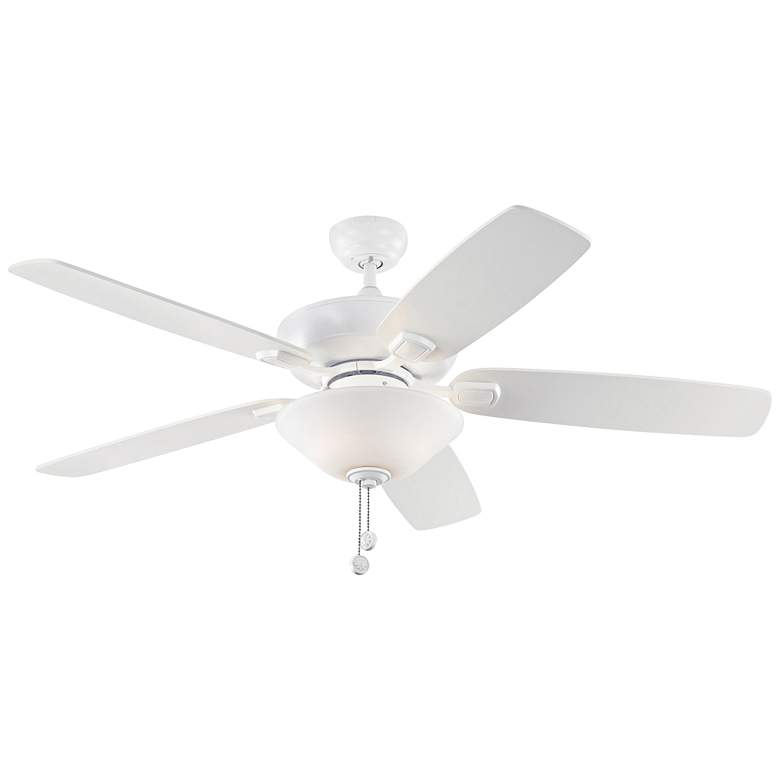 "52"" Colony Max Plus Matte White LED Damp Rated Ceiling Fan"