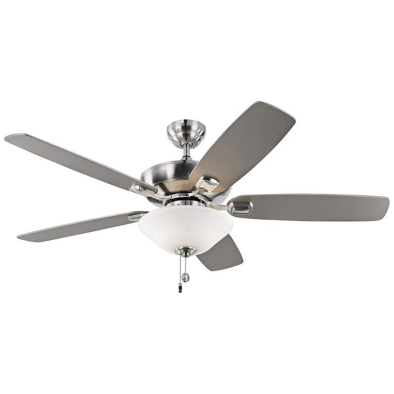 """52"""" Colony Max Plus Brushed Steel LED Damp Rated Ceiling Fan"""
