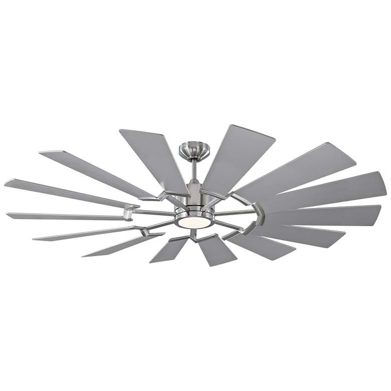 "62"" Monte Carlo Prairie Brushed Steel LED Ceiling Fan"