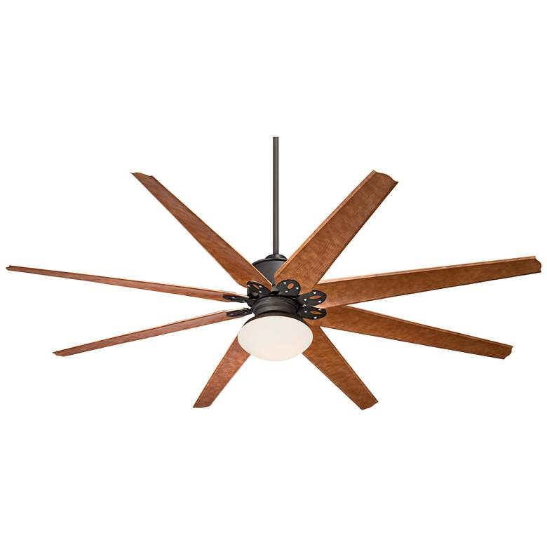 """72"""" Predator Bronze and Opal Glass Outdoor LED Ceiling Fan"""