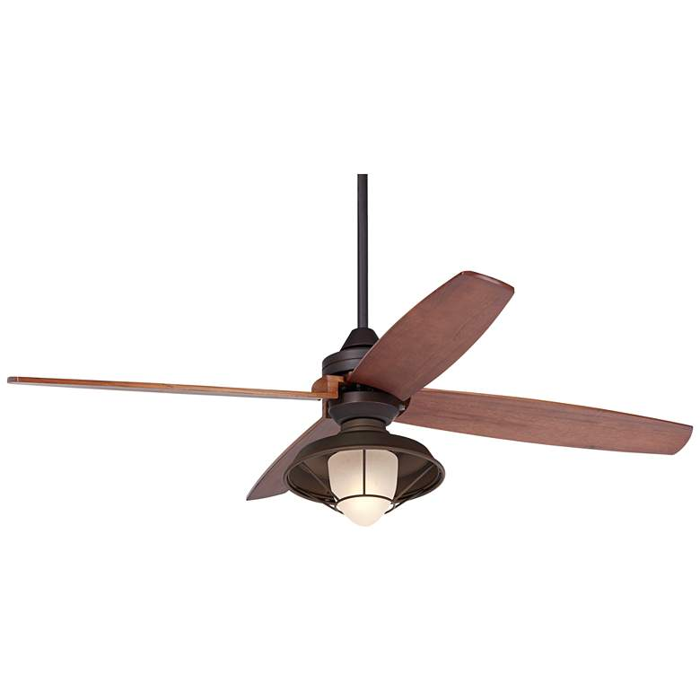 """52"""" Casa Vieja Impel Bronze Frosted Glass LED Ceiling Fan"""