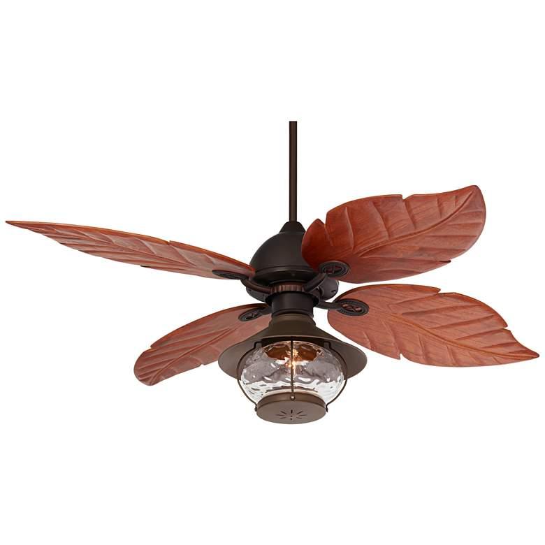 """60"""" Casa Oak Creek Tropical Lantern Damp LED Ceiling Fan"""