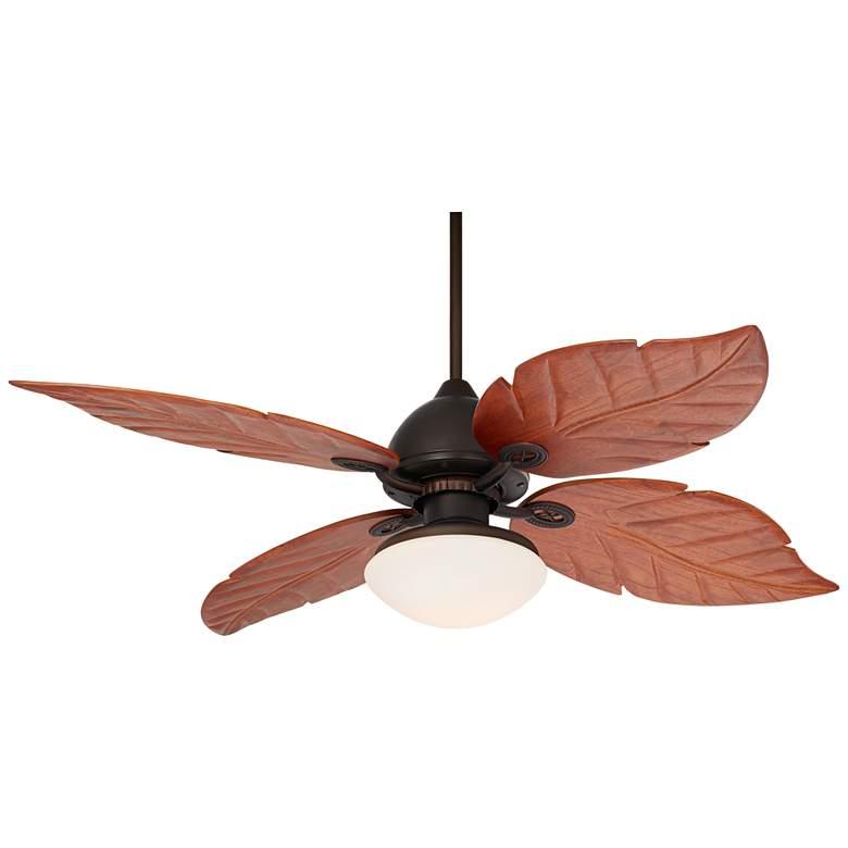 """60"""" Casa Oak Creek White Glass Damp LED Ceiling Fan"""