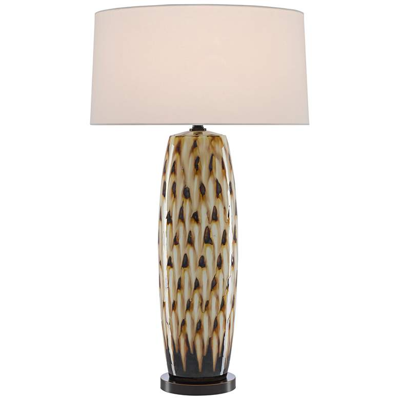 Currey and Company Minten Cream and Caramel Table Lamp