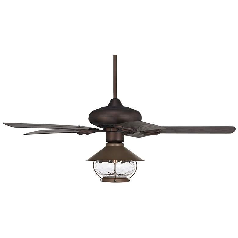 "52"" Casa Vieja Orb Bronze  LED Outdoor Ceiling Fan"