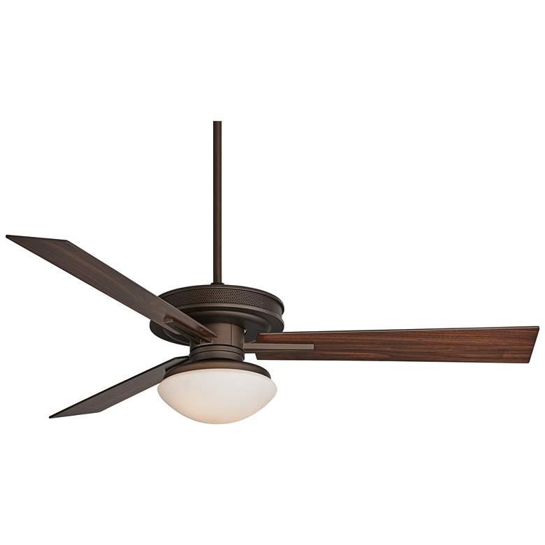"60"" Taladega Oil-Rubbed Bronze Damp LED Ceiling Fan"