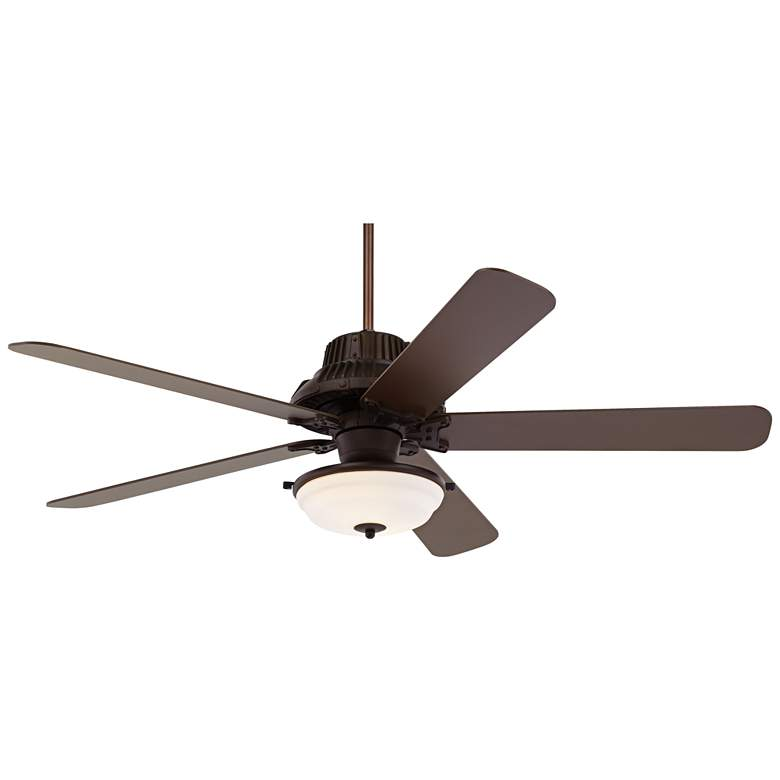 """60"""" Industrial Forge Frosted Glass Outdoor LED Ceiling Fan"""