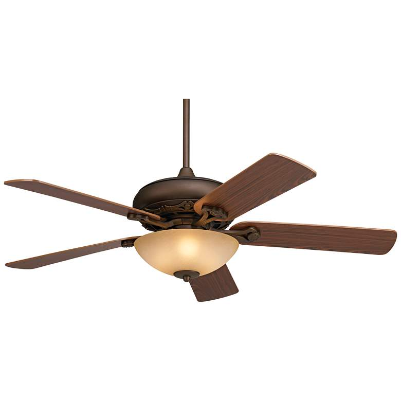 Casa Trilogy™ Scavo Glass Dual Mount LED Ceiling Fan
