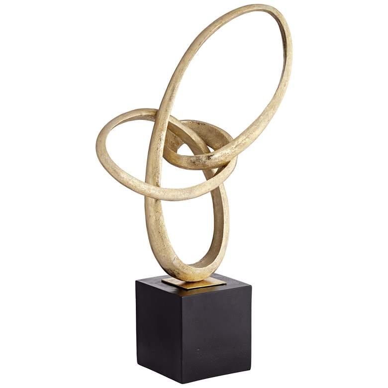 "Tangled Gold Foil and Black 29 1/2"" High Antique Sculpture"
