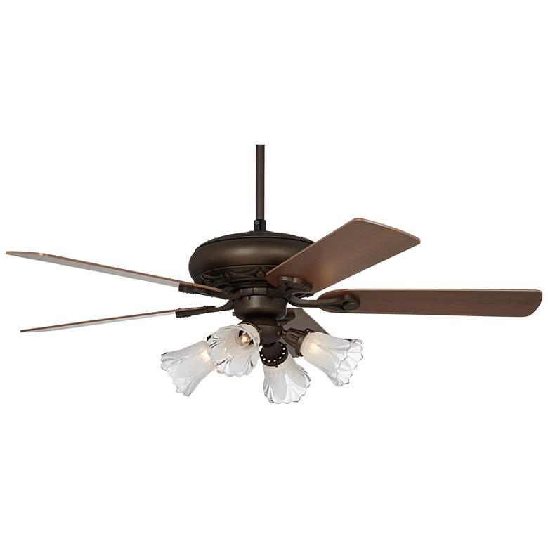 Casa Trilogy™ Bronze and Frosted Glass LED Ceiling Fan