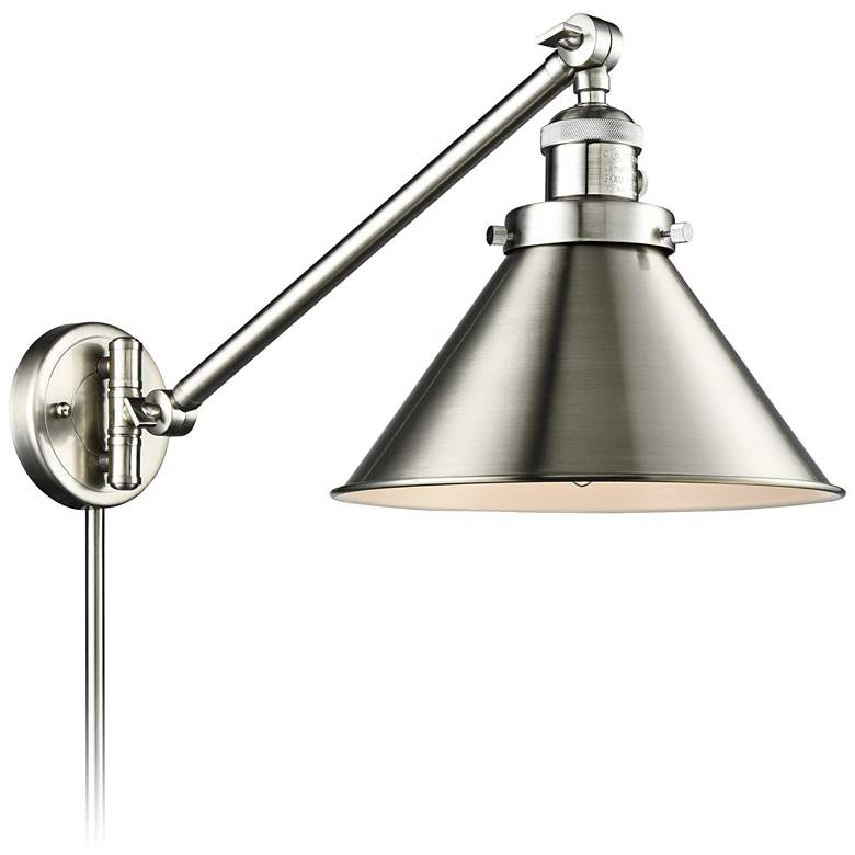 Briarcliff Brushed Satin Nickel Swing Arm Wall Lamp