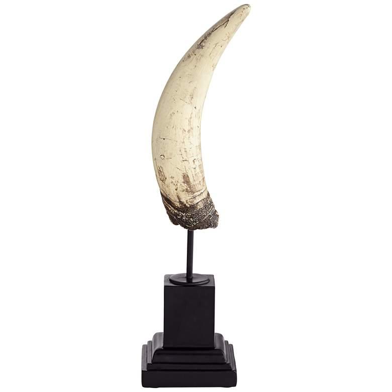 "Horn 13 1/2"" High Natural and Black Sculpture"