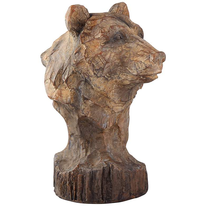 """In the Forest 9"""" High Bear Bust Accent Sculpture"""