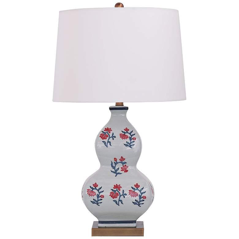 Port 68 Virginia Multi-Color Ceramic Gourd Table Lamp