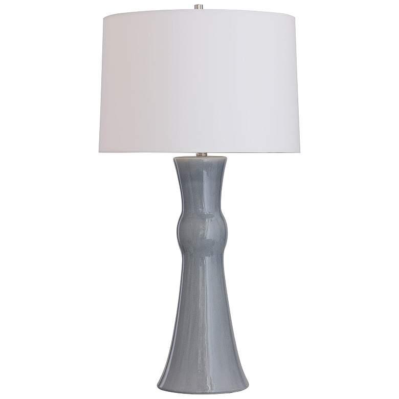 Port 68 Newport Slight Blue and Gray Cast Column Table Lamp
