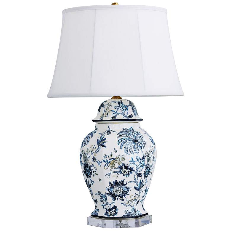 Port 68 Braganza Blue and White Porcelain Table