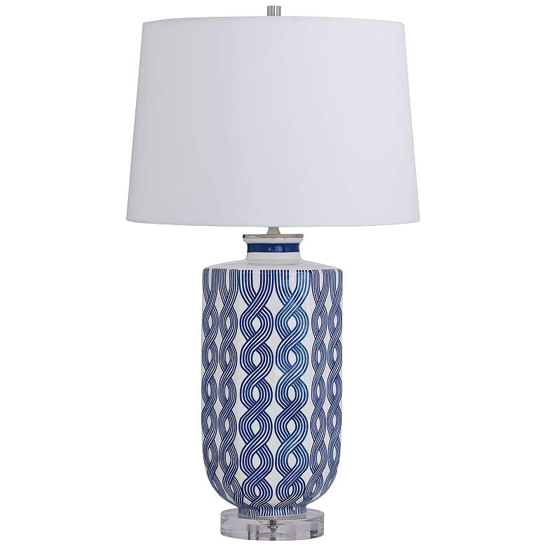 Port 68 Evelyn Blue And White Porcelain Table Lamp