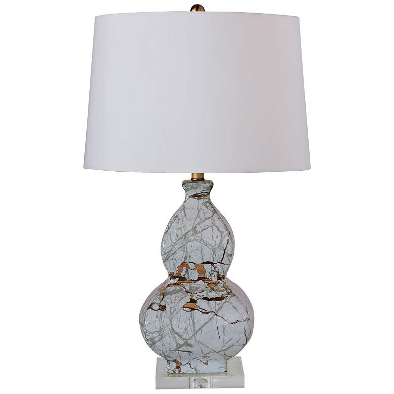 Port 68 Giovanni Gray Marble Pattern Gourd Table Lamp