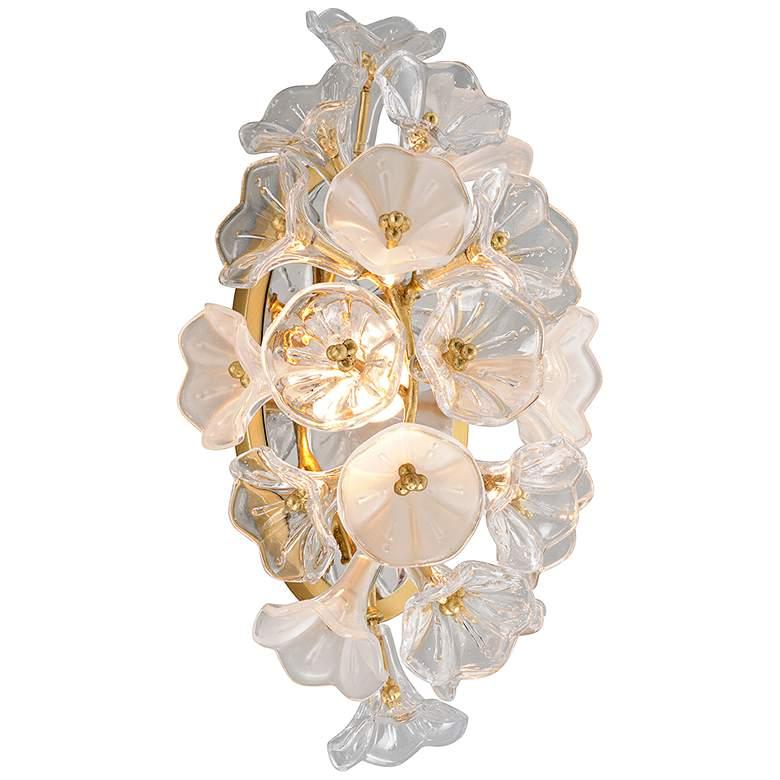 "Corbett Jasmine 17 3/4"" High Gold Leaf LED"